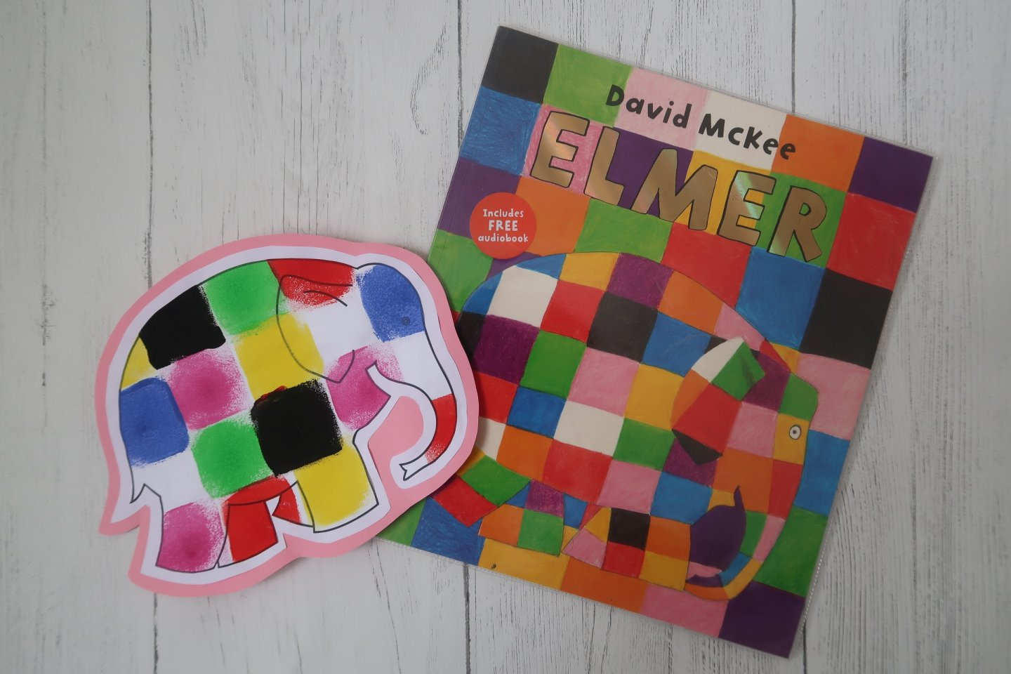 Elmer book and painting activity