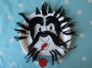 Hairy Maclary dog paper plate craft activity