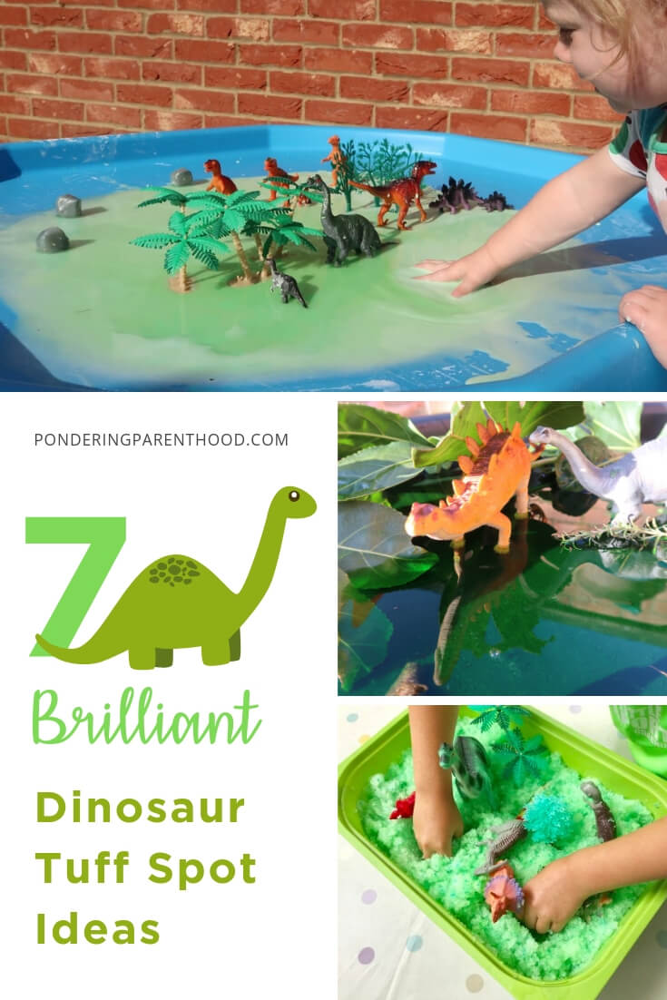 Looking for dinosaur-related EYFS tuff spot activities? Check out these fun, quick and easy dinosaur tuff spots. Hours of sensory fun!