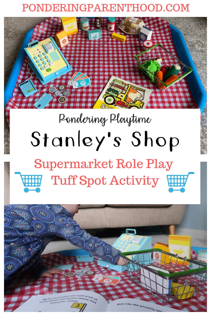 Looking for supermarket role play activities? Check out this EYFS supermarket tuff spot activity.