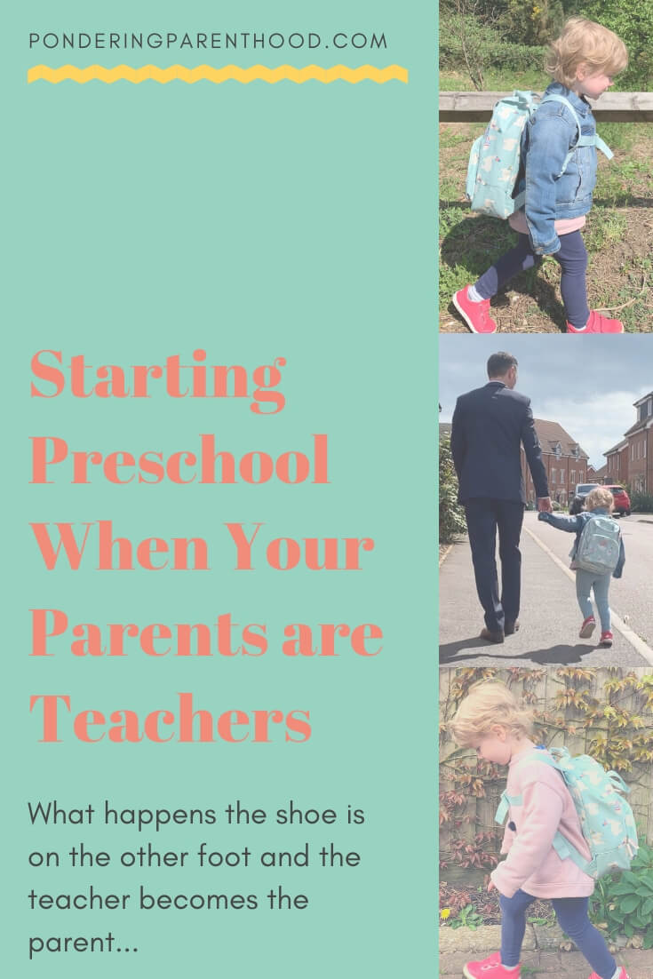 My experience of my first child starting preschool; from a teacher parent's perspective.