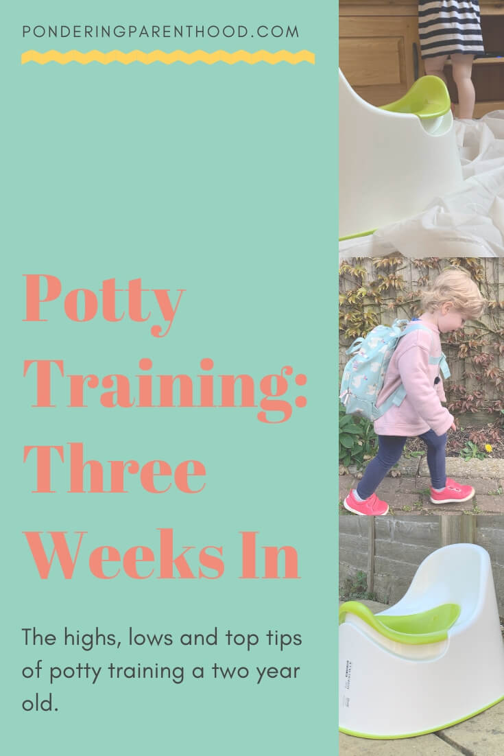 Potty training a two year old: our highs, lows and top tips!