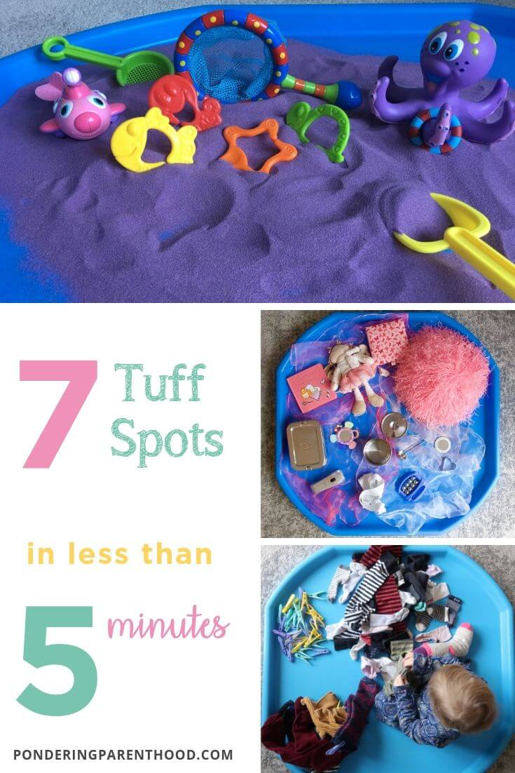 Looking for quick and easy tuff spots? Check out these seven tuff spots that take less than five minutes to set up #EYFSideas