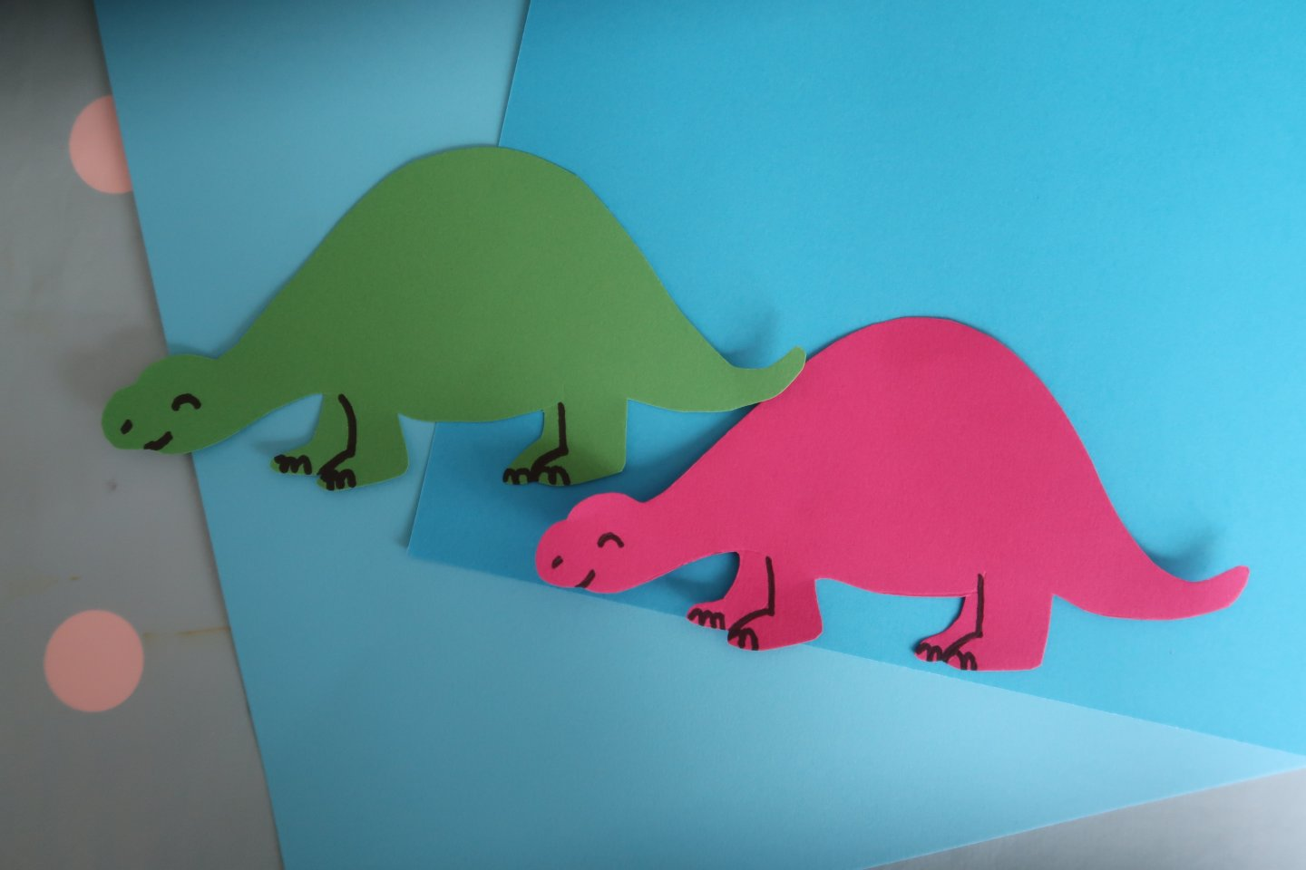 Dinosaur handprint Father's Day card