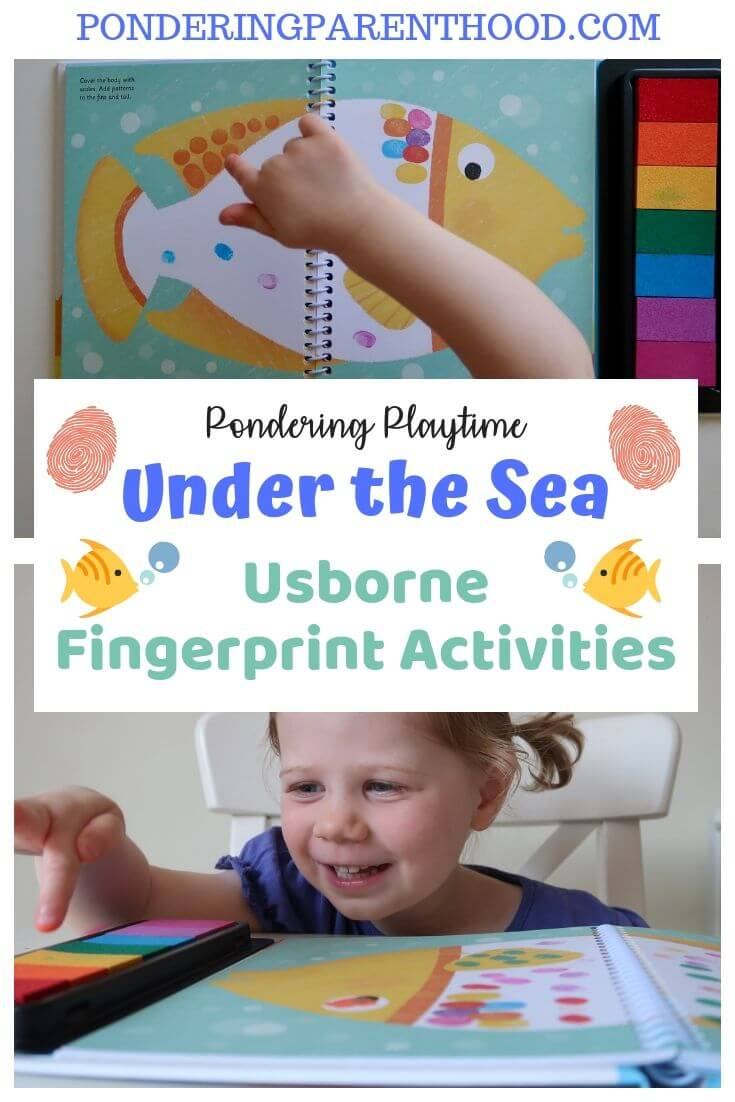 Looking for a no-effort activity for your toddler? Check out this fingerprint activity book from Usborne books.