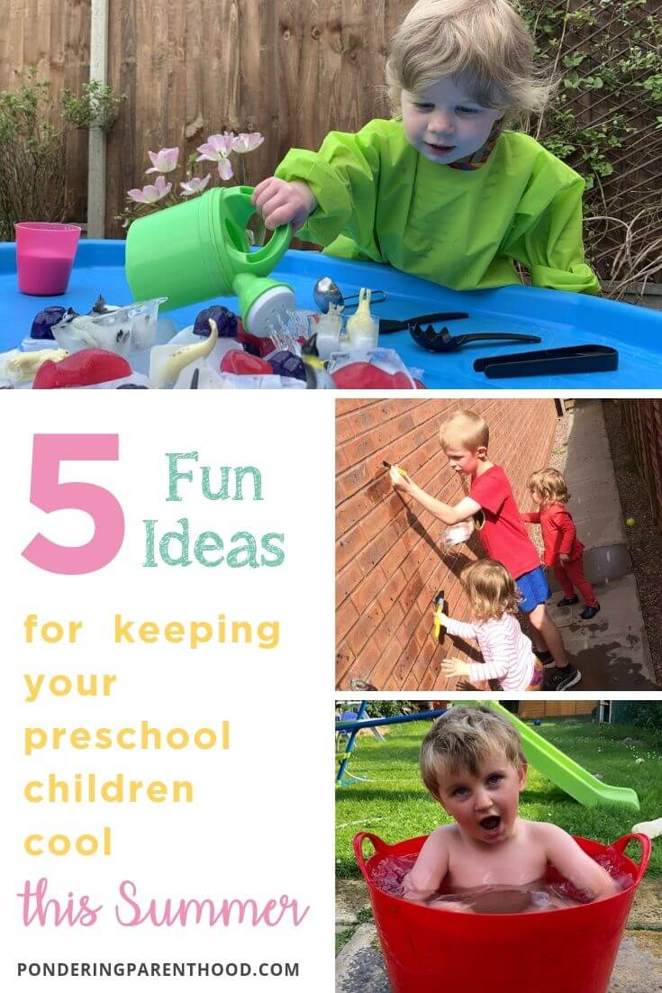 5 fun ideas for keeping your preschool children cool this summer.