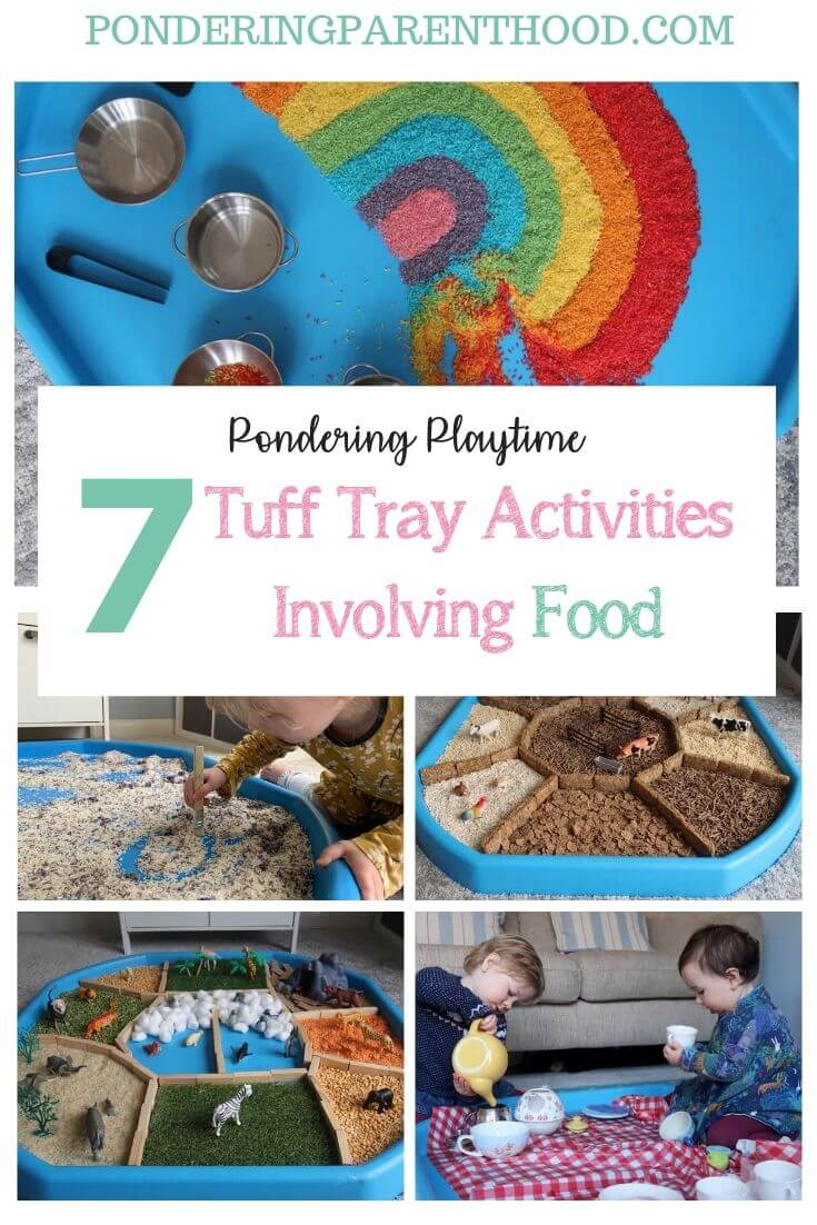 Looking for food-based sensory tuff spot activities? Check out these seven brilliant tuff spot ideas, involving food.